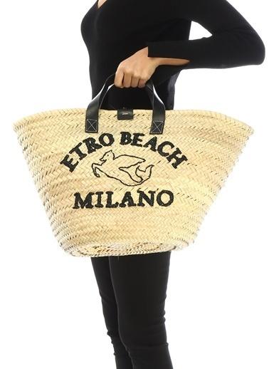 Etro Plaj Çantası Beyaz